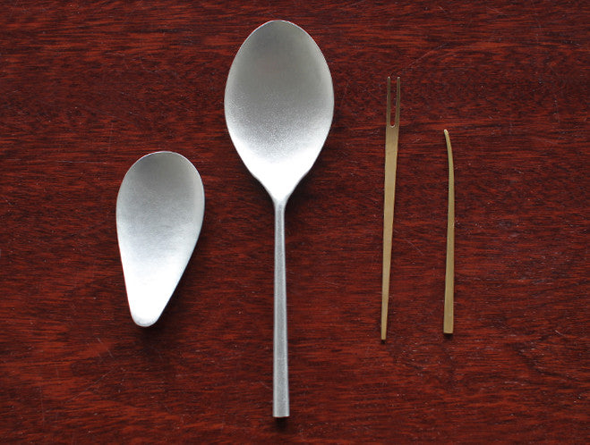 Aluminium Teardrop Spoon by Naho Kamada at OEN Shop