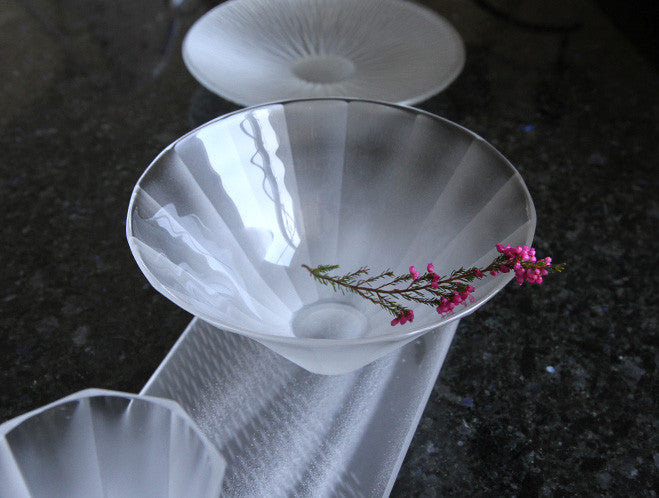 Deep Faceted Bowl by Yuki Osako at OEN Shop