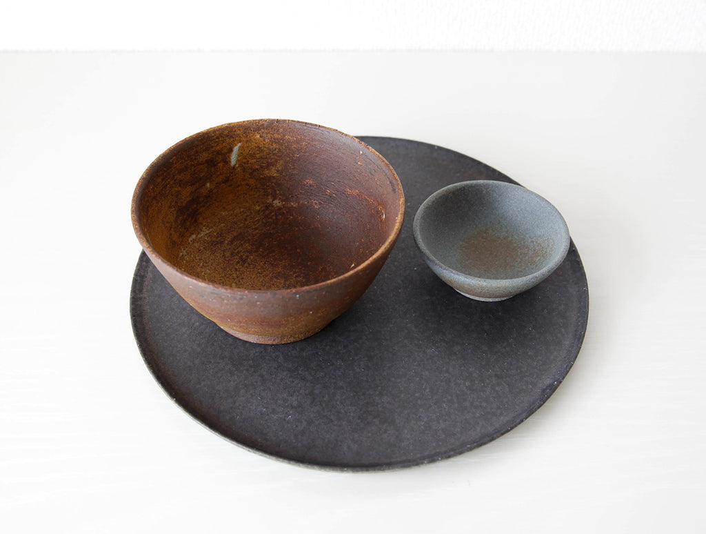 Green Rimmed Plate by Mushimegane Books at OEN Shop