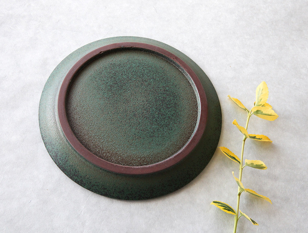 Medium Green Plate by Mushimegane Books at OEN Shop