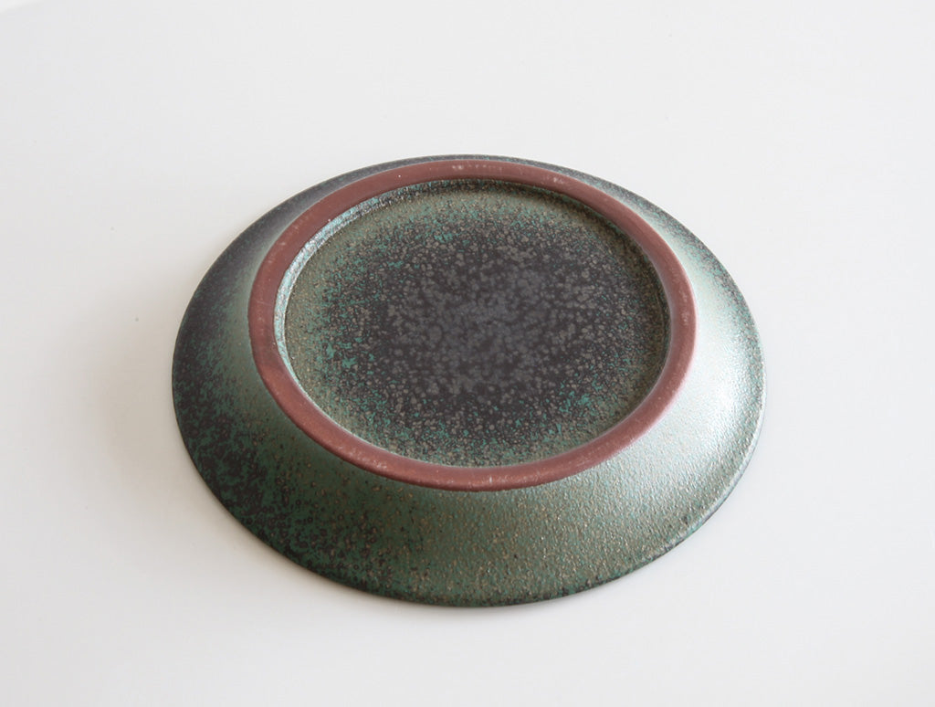 Small Green Plate by Mushimegane Books at OEN Shop