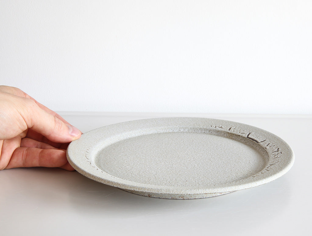 Medium Grey Coral Plate by Mushimegane Books at OEN Shop