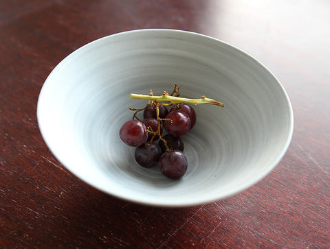 Grey Spiral Bowl by Mark Robinson