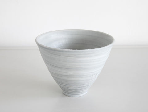 Grey Tall Spiral Cup by Mark Robinson