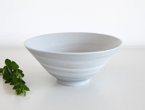 Open Grey Spiral Bowl by Mark Robinson