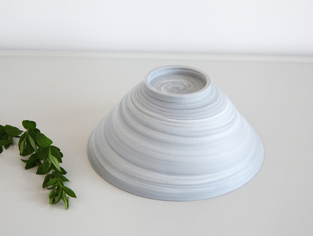 Open Grey Spiral Bowl by Mark Robinson at OEN Shop