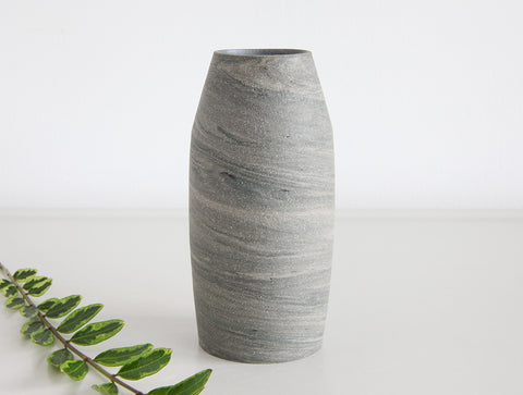 Grey Swirl Stone Bud Vase by Mark Robinson
