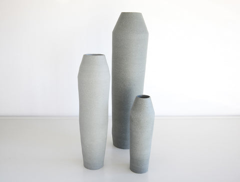 3 Grey Stone Bottle Set by Mark Robinson