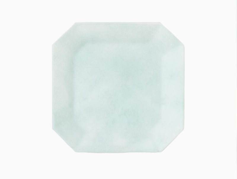 Glass Octagon Plate