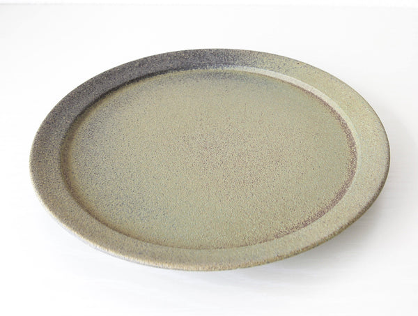 Green Speckled Plate L