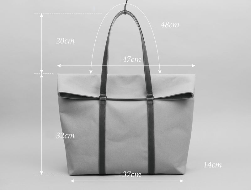 Charcoal Khaki Tote Bag