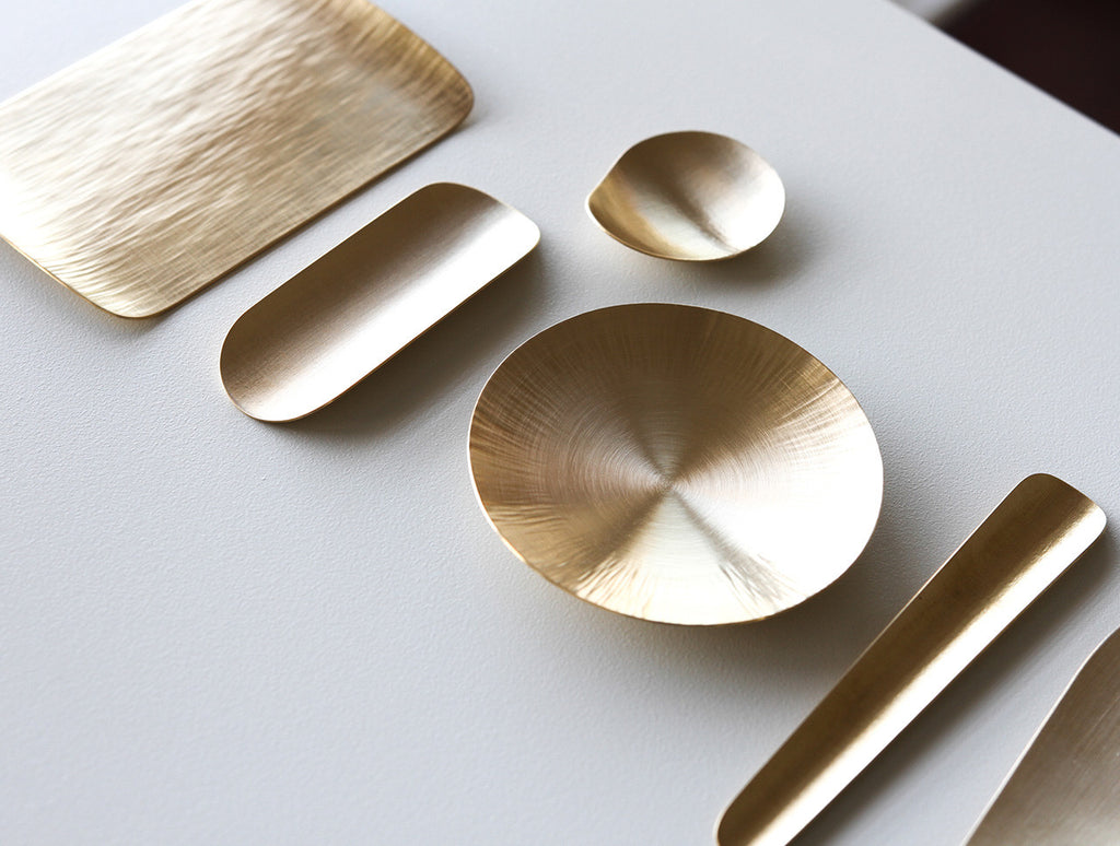 Brass Tea Scoop by Yuta Craft at OEN Shop