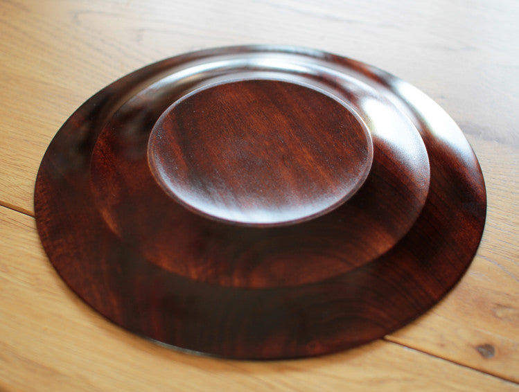Brown Hamon Rim Plate by Fujii Works at OEN Shop