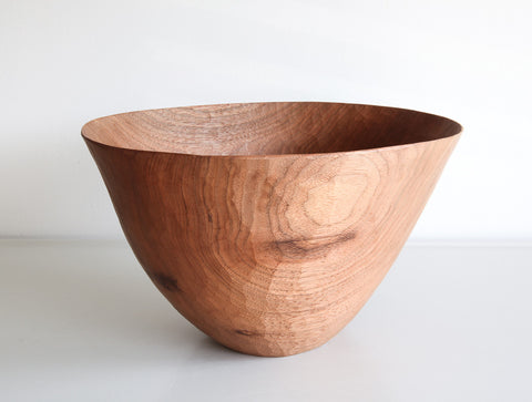 High Walnut Bowl