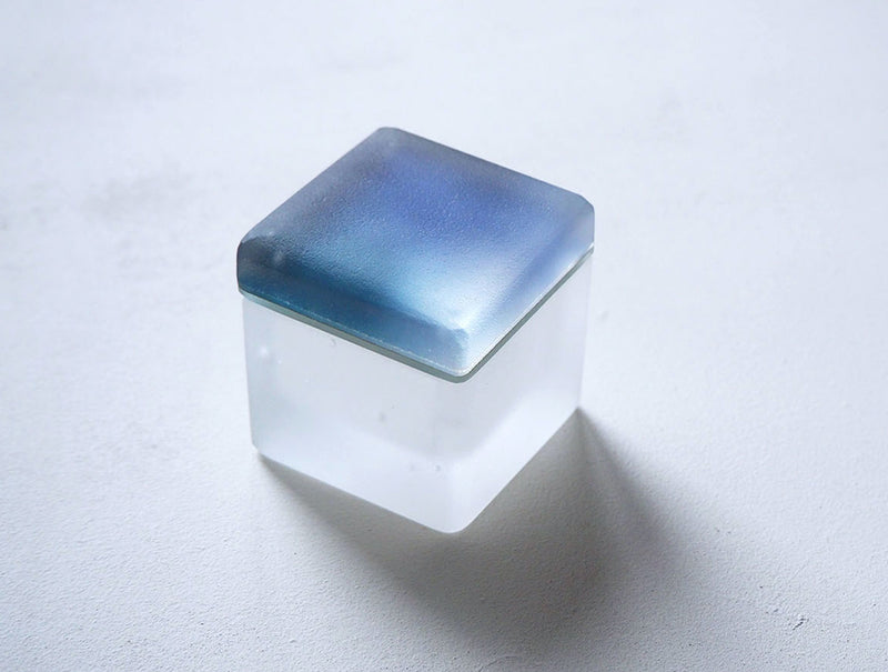 Blue Ripple Glass Box