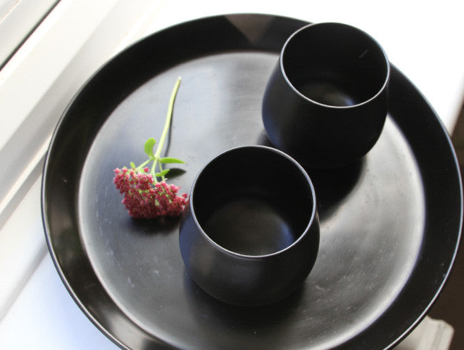 Black Lacquer Cup by Akihiko Sugita at OEN Shop