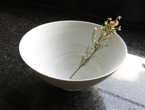 Large Grey Spiral Bowl by Mark Robinson
