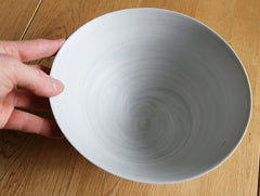 Large Grey Spiral Bowl by Mark Robinson at OEN Shop