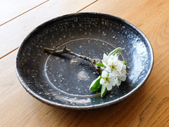 Black Rustic Bowl by Shinko Nakanishi at OEN Shop