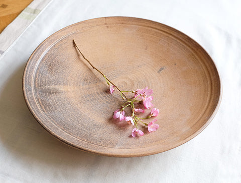 Large Cocoa Plate by Inima Pottery