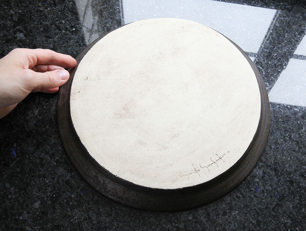 Rustic Black Circle Tray by Yumiko Yasufuku at OEN Shop