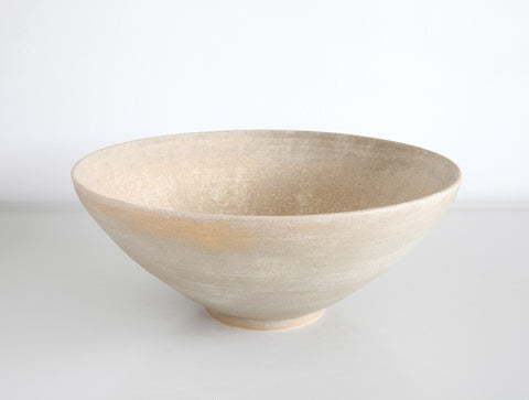 Faded Yellow Stone Bowl