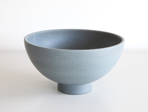Footed Light Blue Bowl by Mushimegane Books