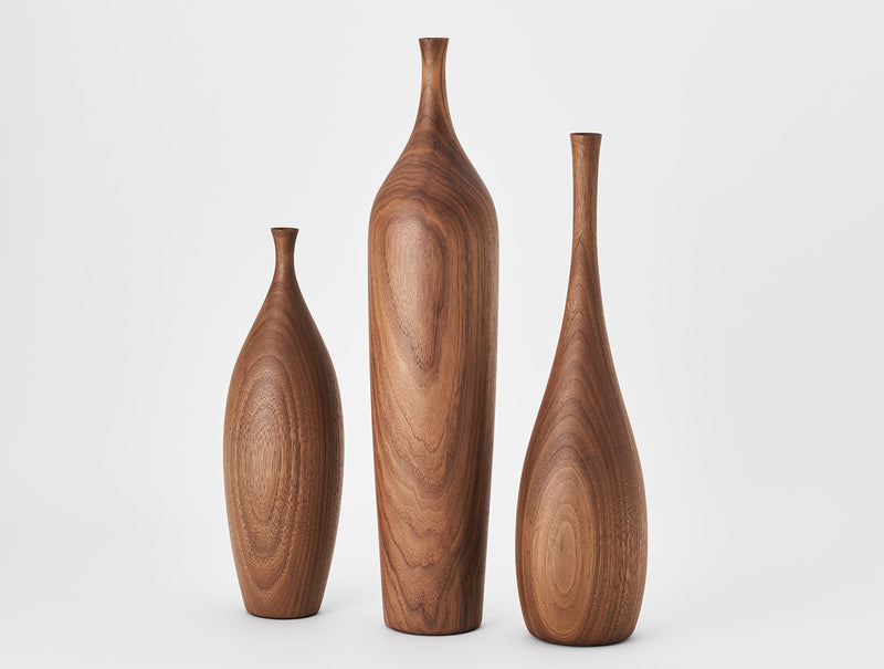 Linea Walnut Medio Vase