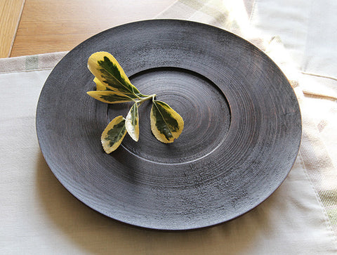 Black Walnut Lined Lacquer Dish by Eiji Hagiwara