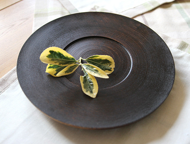Black Walnut Lined Lacquer Dish
