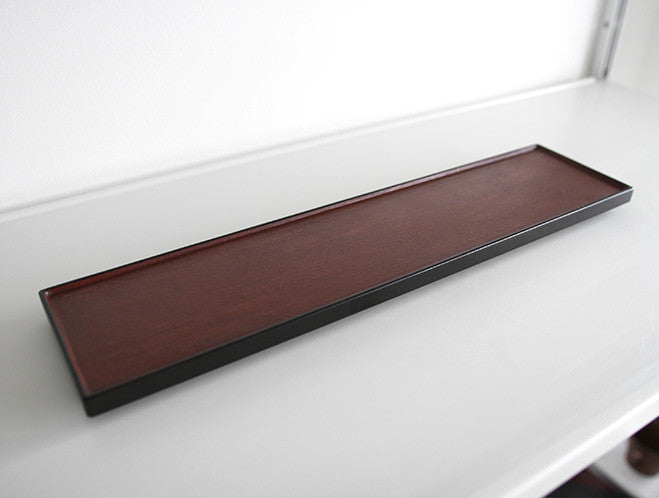 Long Rectangle Lacquer Tray by Akihiko Sugita at OEN Shop