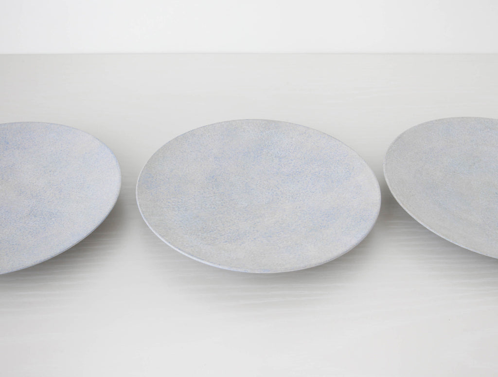 Grey Blue Kiji Plate by Makoto Saito at OEN Shop