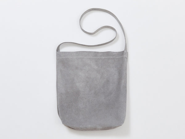 Light Grey Suede Shoulder Bag
