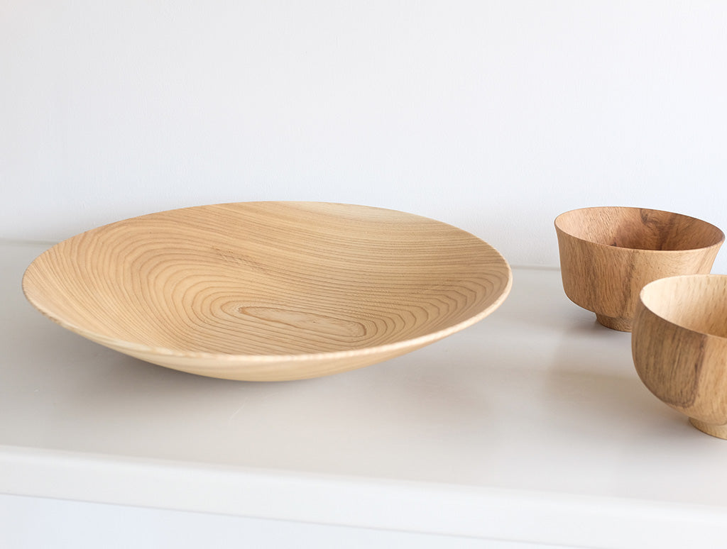 Medium Natural Open Bowl by Kihachi Workshop at OEN Shop