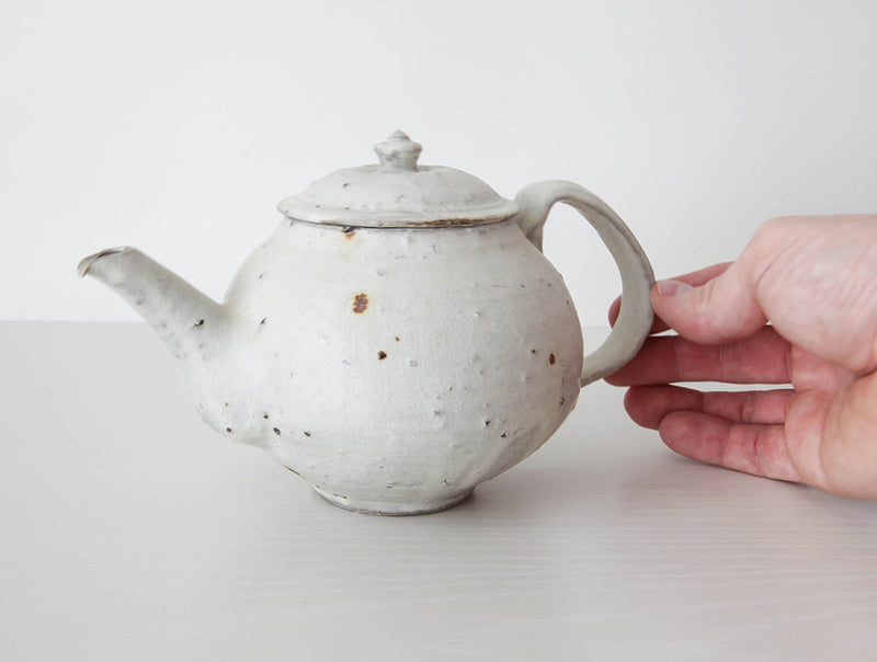Spotted White Teapot