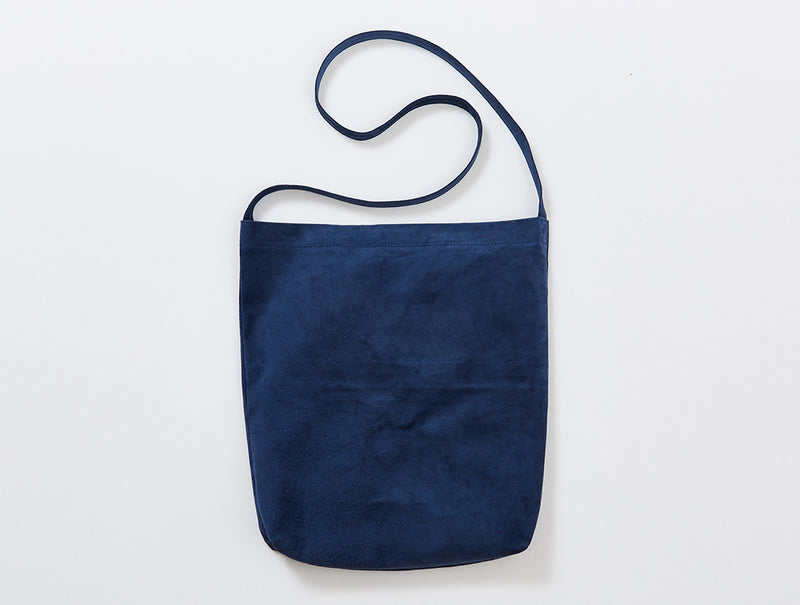 Indigo Suede Shoulder Bag