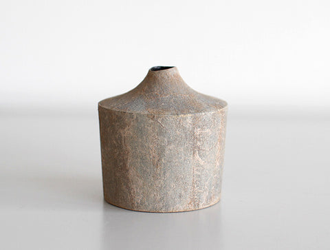 Pale Grey Dry Lacquer Vase by Mie Yokouchi