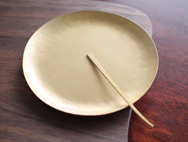 Thin Brass Dish by Naho Kamada at OEN Shop