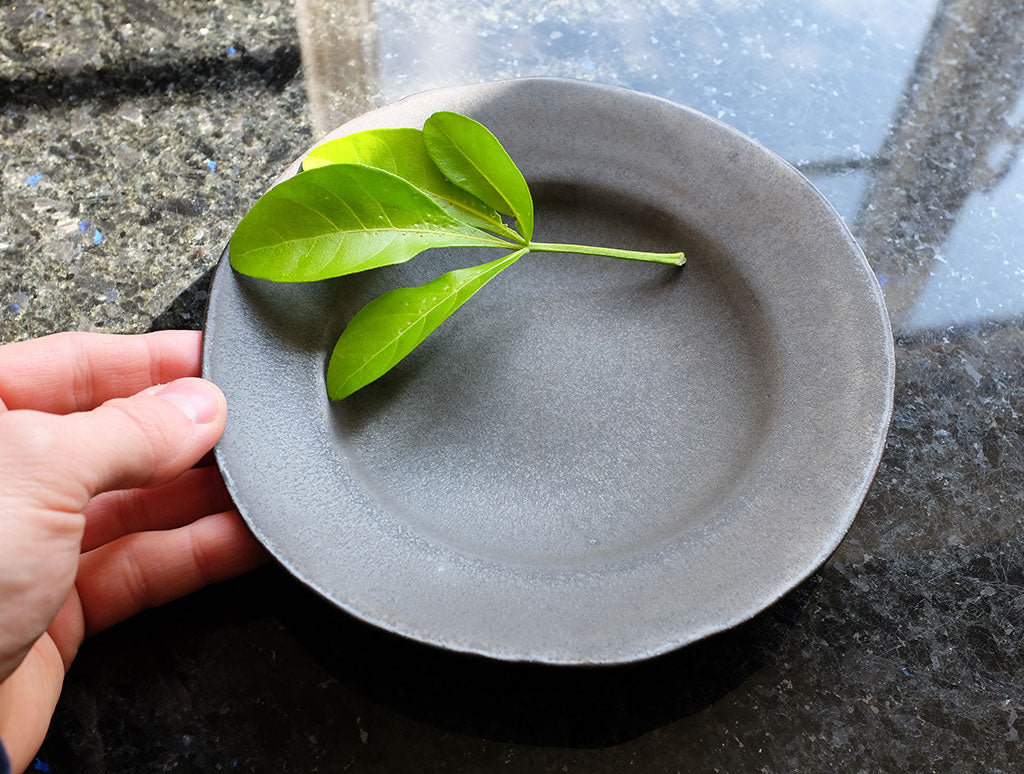 Matt Black Plate by Katsufumi Baba at OEN Shop