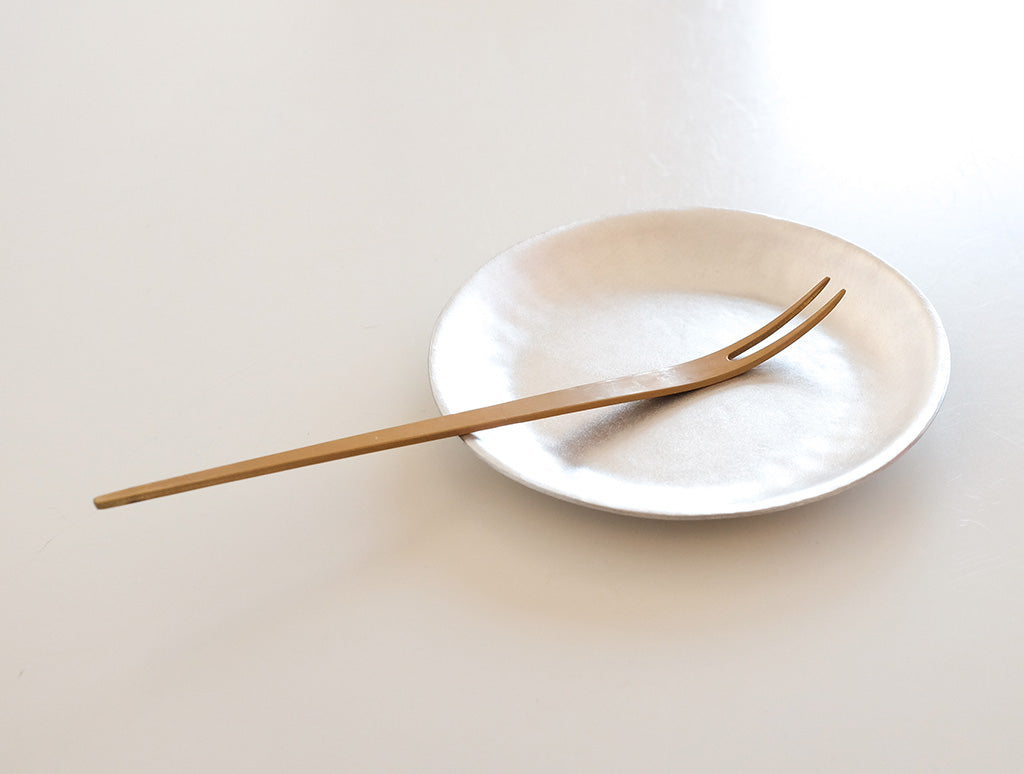 Brass Cake Fork by Naho Kamada at OEN Shop