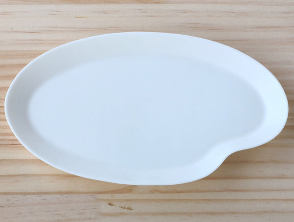 White Porcelain Oval Plate