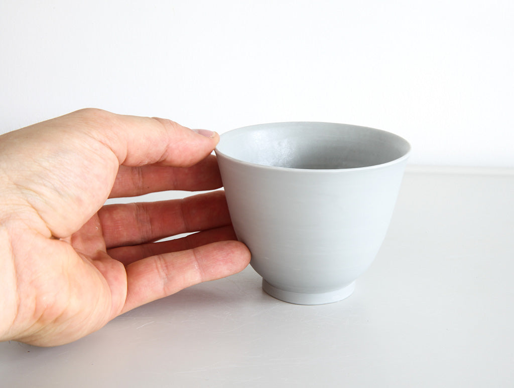 Grey Porcelain Open Cup by Mark Robinson at OEN Shop