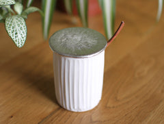 Porcelain Sugar Pot by Katsufumi Baba at OEN Shop