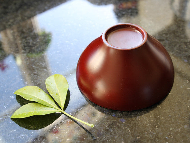 Red Urushi Bowl by Fujii Works at OEN Shop