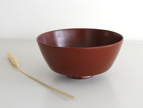 Small Red Lacquer Bowl by Akihiko Sugita