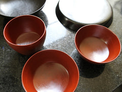 Small Red Lacquer Bowl by Akihiko Sugita at OEN Shop