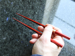 Red Lacquered Chopsticks by Maiko Okuno at OEN Shop