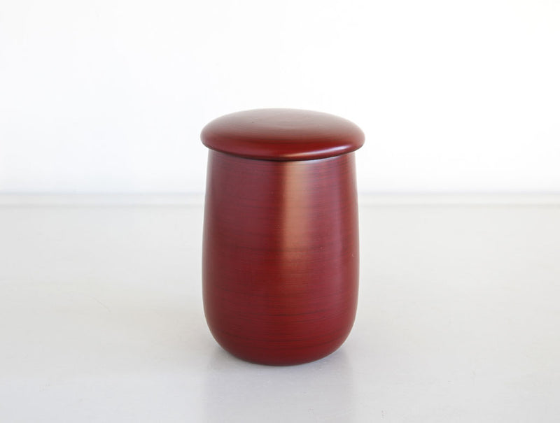 Red Lacquer Curved Pot