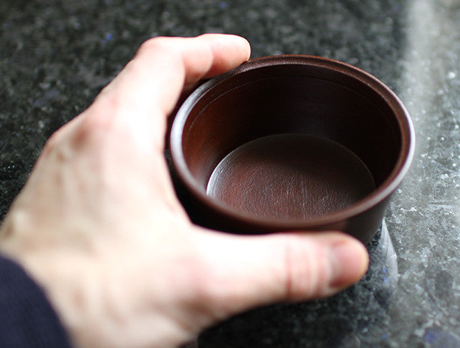 Red Lacquer Chestnut Cup by Hiroyuki Sugawara at OEN Shop