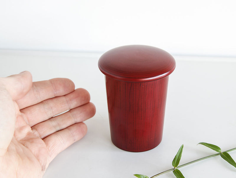 Red Lidded Lacquer Pot